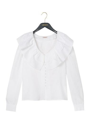 Vekem-Limited Edition Gömlek Ekru